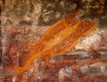 Ubirr Rock Aboriginal Turtle Painting